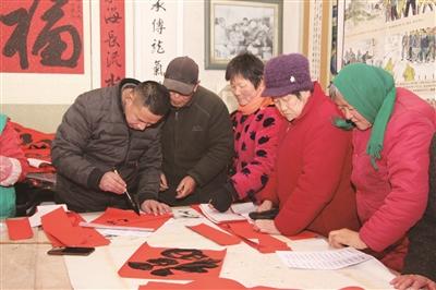 聊城市青年书法家协会走进革命老区凤凰集社区